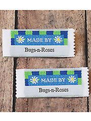 Daisies Precut Personalized Woven Label  by MJsPatternsOutpost
