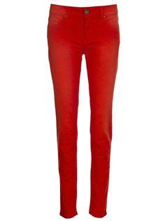 MOB - Calça skinny vermelha. 6