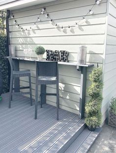 Aunt S! Fr @ loves this📌🌟A bar is perfect for a small meal .- 🌟Tante S! Fr @ loves this📌🌟Eine Bar ist ideal für eine kleine Mahlzeit… Aunt S! Fr @ loves this📌🌟A bar is perfect … - Backyard Bar, Backyard Landscaping, Backyard Ideas, Patio Ideas, Small Backyard Pools, Back Patio, Small Patio, Small Garden Design, Small Garden Bar Ideas
