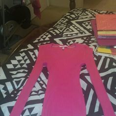 Victoria Secrets Pink top NWOT Slim fit, long sleeves, stretch material so fits nice to body. Brand new! Never worn. It was a Christmas gift last year. I felt it was to fitted for me. I'm only 5ft. Victoria's Secret Tops