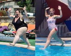 Woman creates best ever before and after pics following 10 stone weight loss