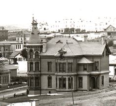 Built 1887 For over 67 years this magnificent Victorian mansion graced Cortez Hill until it was demolished in 1954 and replaced by yet another nondescript and undistinguished specimen of uninspired architecture.