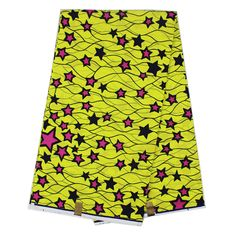 Find More Fabric Information about YBGHA 137 New African wax print fabric, Fluorescent yellow stars print nigerian ankara fabrics for African dress 6 yards whole,High Quality wax print fabric,China african wax prints fabric Suppliers, Cheap printed fabric from Freer on Aliexpress.com