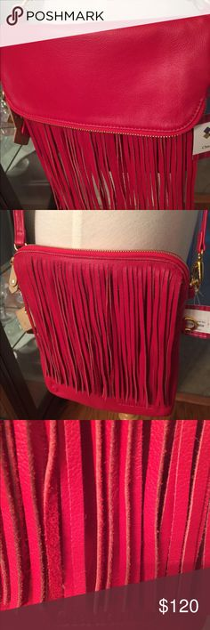 Claudia g purse Gorgeous red fringe leather crossbody Claudia g ---this is a brand new item it has never been carried or used in anyway claudia g Bags Crossbody Bags