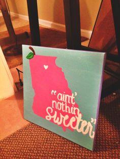 """Ain't nothin sweeter than us Georgia peaches"" $30"