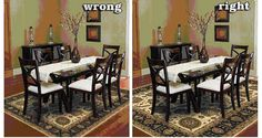 Image result for dining table rugs
