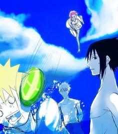 Team 7 (Kakashi, Sakura, Sasuke and Naruto) Naruto Uzumaki, Boruto, Kakashi Sensei, Naruto Sasuke Sakura, Narusaku, Naruto Art, Sasunaru, Sakura Haruno, Anime Naruto