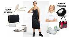 Satin will be in the spotlight this fall! We fall for its versatile black dress version. Chic for an outing and casual with a t-shirt underneath for the weekend. Have fun! Street Style Looks, Fall Trends, Fall Looks, Satin Dresses, Lbd, Spotlight, Chic, Casual, Fashion Tips