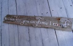 "Sweet Home Alabama romantic quote ""So I can kiss you anytime I want"" on  natural DRIFTWOOD! BEACH wedding, country wedding decor!"