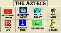 Aztec History for kids - Muggle Studies Visual Art Lessons, Science Lessons, 6th Grade Social Studies, Teaching Social Studies, History Activities, Teaching History, Romans For Kids, Aztec History, Spanish Lessons For Kids