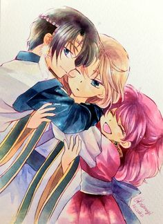 Young Hak, Young Soo Won, and Young Yona. Akatsuki no Yona l am going to cry :( Yona Akatsuki No Yona, Anime Akatsuki, Manga Anime, Anime Art, Me Me Me Anime, Anime Love, Akagami No, Noragami, Manga Drawing