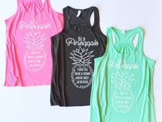 For Arizona locals, use coupon code AZLOCAL to pick up your order in Gilbert  Be A Pineapple Tank Top Stand Tall Wear A Crown Be Sweet on the Inside  Love this pineapple quote so much we had to make a tee! Such a great daily reminder! Darling with jeans, leggings, skirt, or shorts! Cant go wrong with this one!  This tank is so comfy and soft! Gray, Mint, or Pink Tank   We custom print your shirts after receiving your order and confirmation of payment. We stand 100% behind our product and if…