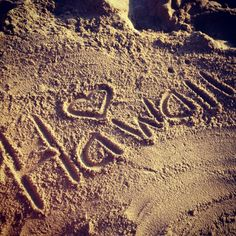 Memories in the sand! ♡