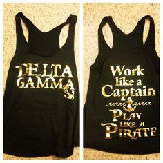 Black and gold lettering..so cute! Potential rush theme?