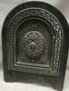 iron fireplace cover. Antique Late 1800 s Cast Iron Ornate Fireplace Cover Very Design K  eBay Victorian Figural Nouveau Surround
