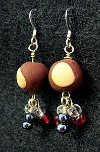 Buckeye Drop Earrings - Handmade