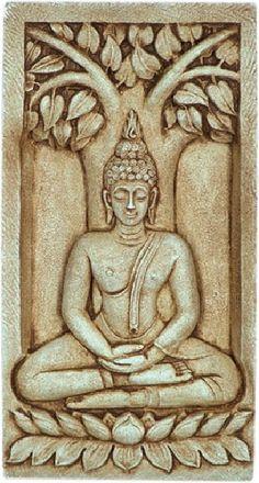 Thai Buddha Sitting Under Bodhi Tree