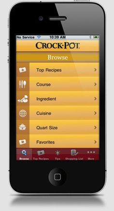 Crock-Pot Slow Cooker Recipe Finder App for Moms