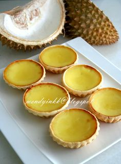Durian Egg Tart oo these are soo good!!