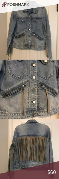 BLANK NYC fringe denim jean jacket Medium Worn only once! Perfect condition. Purchased at Gypsy Warrior in Ridgewood, NJ. Size medium.  http://www.revolve.com/mobile/blanknyc-fringe-jacket-in-fringed-out/dp/BLAN-WO60/?product=BLAN-WO60&fbreq=el Blank NYC Jackets & Coats Jean Jackets