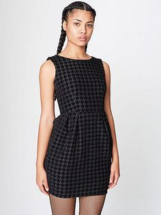 The Classic Houndstooth Cocktail Dress by #AmericanApparel
