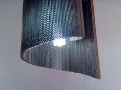 Muszla lampa z tektury / Shell cardboard lamp, design, home, Cardboard furniture, meble z tektury, eko, ekologiczne, diy, zrób to sam, cardboard lamp