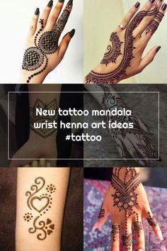 New tattoo mandala wrist henna art ideas #tattoo Wrist Henna, Hand Henna, New Tattoos, Hand Tattoos, Henna Patterns, Henna Art, Art Ideas, Mandala, Mandalas