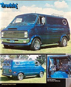Old School Vans, Dodge Van, Vanz, Vintage Vans, Custom Vans, Kustom, Van Life, Midnight Blue, Motorhome
