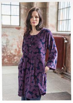 "Velor tunic ""Ocho"" from organic cotton / polyester 67404-55.jpg Sizes S-XXL"