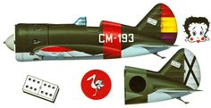Polikarpov I-16 tipo 10, perteneciente a la 3a. Escuadrilla de Moscas. Matrícula CM -193 Aeródromo Villahuiga . Febrero de 1939. Este avión fue pilotado por los ases Francisco Tarazona y el oficial comandante de la escuadrilla José María Bravo Fernández. El 06 de febrero 1939 este avión fue abandonado en el aeropuerto después de la derrota de Cataluña