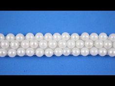 Passo a passo: Como costurar pérolas no elástico - YouTube Mais