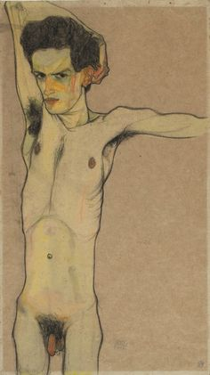 Egon Schiele, Self-Portrait (1912)