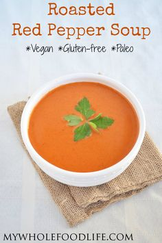 Roasted Red Pepper and Almond Milk Soup