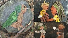 Chelsey Bahe uses the materials at her feet to create artwork in the forest.