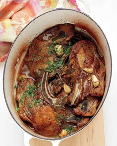 Vinegar-Braised Pork Shoulder Chops.