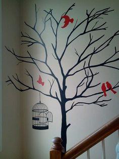 Hand painted wall mural <3 www.facebook.com/lotzadotzbynatalie