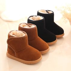 Cool Winter Warm Boys Girls Snow Boots Shoes Fashion Flat With Plush Child Kids Snow Boots Shoes 13-15 CM Baby Boots Toddler Shoes - $29.4 - Buy it Now!