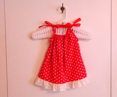 Pillowcase Dress  White Dots on Red  made to by sewingdreamskids, $14.95