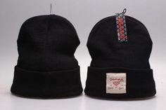 Mens / Womens Diamond Supply Co City Cuff LA NY SF Logo Patch Skully Knit Beanie Cap - Black