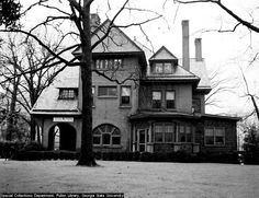 Built in 1892, The Raoul House sat where present day CVS and Gordon Biersch Brewery are located.  The family lived there until 1914 when they moved to Druid Hills.  The Red Cross used the house as a blood donation and bandage rolling center in the 1940's.
