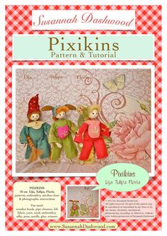 Pixikins Felt Doll Making Pattern and Tutorial by malphi on Etsy