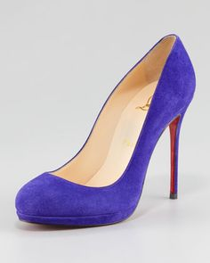 Filo Suede Platform Red Sole Pump by Christian Louboutin at Neiman Marcus.