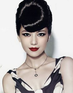 oriental evening makeup and classic styling