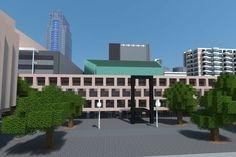 De Doelen, Schouwburgplein, Rotterdam in Minecraft