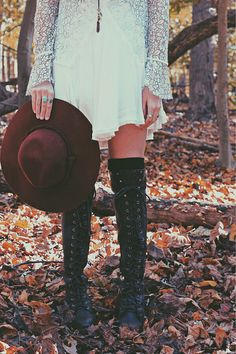 Comfy and fashionable! These knee high combat boots are perfect for walking around campus!