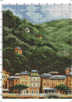 Scenery Pictures, Counted Cross Stitch Patterns, Cross Stitching, Embroidery Patterns, City Photo, Photo Wall, Outdoor, Ships, How To Make Crafts
