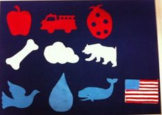 Red White and Blue #feltboardstories #flannelfriday #storytime #flannelboard