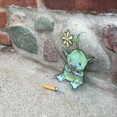 David Zinn - A meditation on street-level occupancy: mixed and abandoned media David Zinn, Street Art Banksy, 3d Street Art, Chalk Drawings, Art Drawings, Ann Arbor, Chalk Artist, Sidewalk Chalk Art, Art Therapy Activities