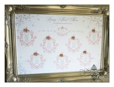Pretty pink seating plan with embellishment. Deannamic Designs