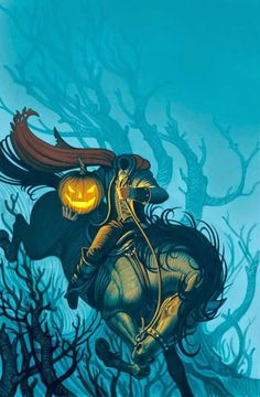 The Headless Horseman. By:Greg Call - iPhone wallpaper Halloween holiday background Halloween Pictures, Halloween Art, Vintage Halloween, Happy Halloween, Halloween Stuff, Halloween Icons, Disney Halloween, Cgi, Scary